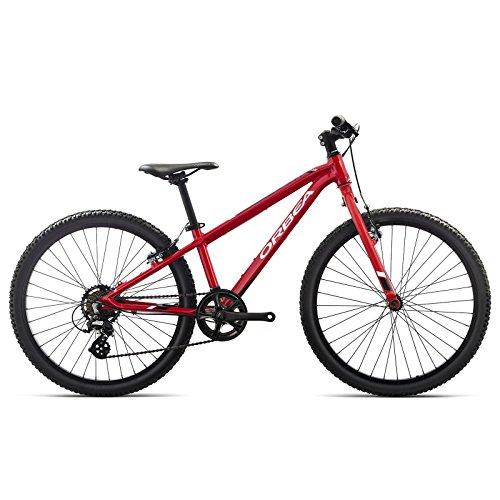 Orbea MX 24 DIRT Kinder Fahrrad 24 Zoll 7 Gang MTB Rad Aluminium Mountain Bike, G01024, Farbe Rot Weiß (Jugend-jungen Schuhe)