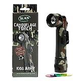 KAS Kids Camouflage C Torch-4Farbige Lenses-camo Armee Rollenspiel, C Zelle