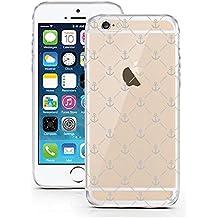 licaso - Funda protectora para iPhone 6, TPU, transparente, TPU, ancla, iPhone 6 6S