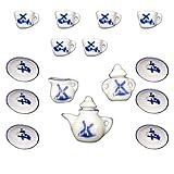 15pcs Puppenhaus Miniatur Accs Keramik Windmühle Kaffee Tee-Service Set Spielzeug