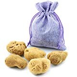 Spugna Mestruale - Set di 5 in un sacchetto di iuta - Alternativa naturale a tamponi - Spugne Naturali extra morbide & non candeggiata