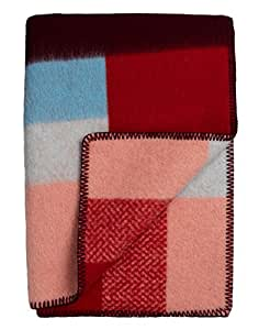Roros Tweed plaids–finewool Couvre-lit: Rouge (200cm x 130cm)
