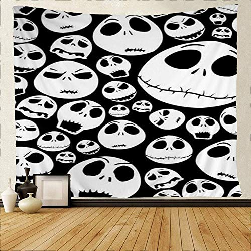 HiExotic Wandteppiche Art Tapestry Tablecloth Bedspread Halloween Tapestry Halloween Party Cool SkullHiExotic Wandteppiche Art Tapestry Tablecloth BedspreadTapestries Wall Hanging Throw Tablecloth 50X