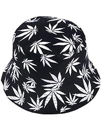 Sombrero reversible para mujer con estampado de frutas, para hombre y pescador al aire libre