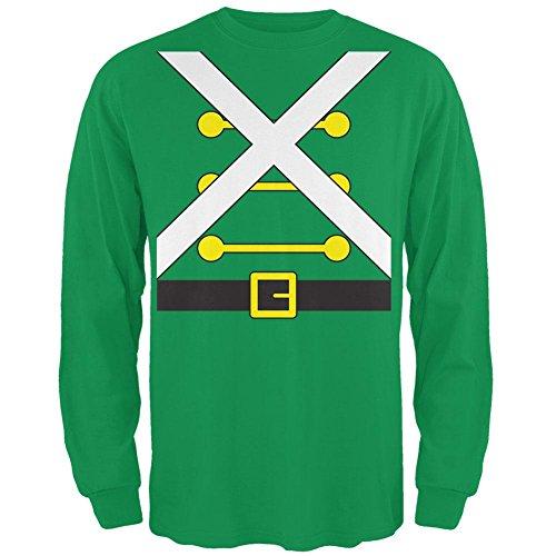 g Soldat Kostüm Mens Long Sleeve T Shirt Irish Green MD (Mens Spielzeug Soldat Kostüm)