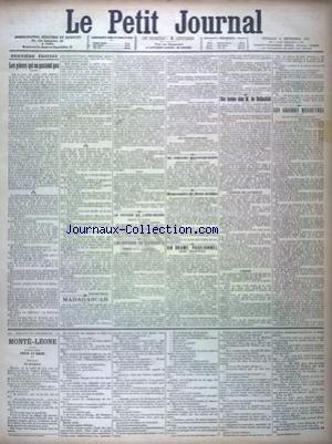 PETIT JOURNAL (LE) [No 11942] du 06/09/1895