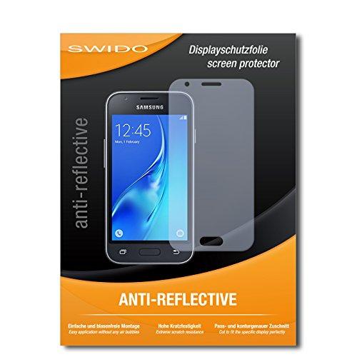 SWIDO Schutzfolie für Samsung Galaxy J1 Mini (2016) [2 Stück] Anti-Reflex MATT Entspiegelnd, Hoher Härtegrad, Schutz vor Kratzer/Bildschirmschutz, Bildschirmschutzfolie, Panzerglas-Folie
