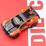 GRTVF Mini RC Auto 2.4G 4WD Drift Racing Car 01:24 elettrica di Ricarica dell'automobile di Telecomando di Guida Porta Lighting Simulation Toy Car for Surprise Regalo for Bambini (Color : Orange)