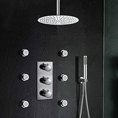 LISABOBO Luxury Thermostatic Stainless Steel 12