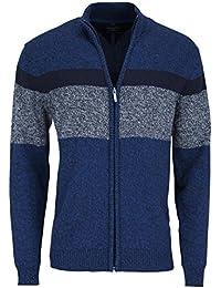 CASAMODA Strickjacke Langarm aus reiner Baumwolle Muster blau