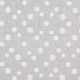 Fabulous Fabrics Weihnachtsstoff Jaquard Schneeflocke –