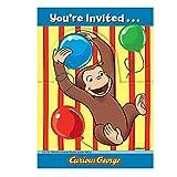 Curious George Invitations [8 Per Pack]