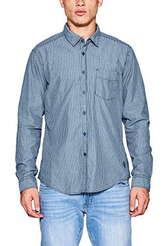 Edc by esprit 107cc2f010, camicia uomo, blu (navy 400), large