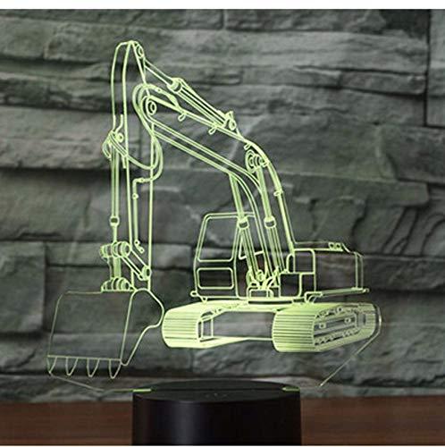 Preisvergleich Produktbild Fushoulu 3D Led Nachtlicht Bagger Bagger Bagger Mit 7 Farben Licht Für Home Decoration Lampe Erstaunliche Visualisierung