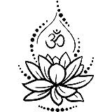 Loto Creativo Vinilo Tatuajes de Pared Om Signo Vinilo Pegatinas de Pared Yoga Meditación Tatuajes de Murales Extraíble Art R