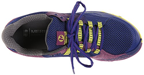Merrell - All Out Charge, Scarpe Da Trail Running da donna Multicolore (Mehrfarbig (WILD PLUM / LIME))