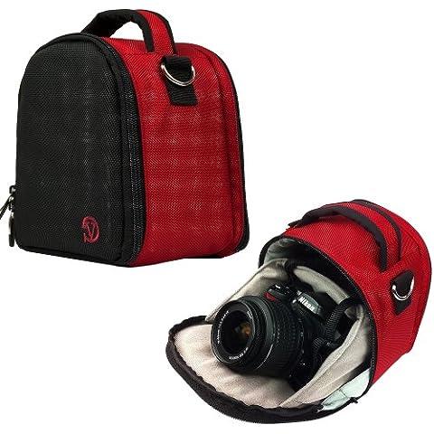 VanGoddy Laurel Custodia Borsa in Poliestere con Tracolla per Fotocamera Borsa Messenger per SLR DSLR Reflex Bridge Fotocamere