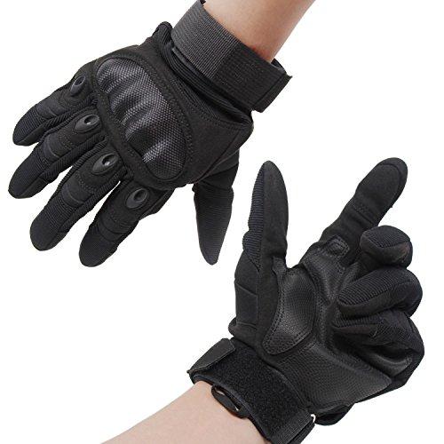 Xcellent Global Gants doigts entiers, protection pour les articulations difficiles, gants blindés pour paintball, airsoft, pour le motocross, le jeu de guerre et le vélo , taille XL, Noir FS037XL