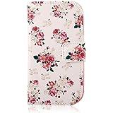 YOKIRIN Samsung Galaxy S3 Mini I8190 Hülle Flip Cover Leder Tasche Case Schutzhülle Handy Tasche Muster Etui Schale mit Standfunktion Kredit Kartenfächer (color-1)