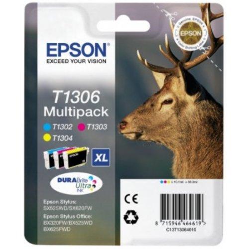 Cartucho de tinta multi-pack cian/magenta/amarillo t1306 Ciervo EPSON