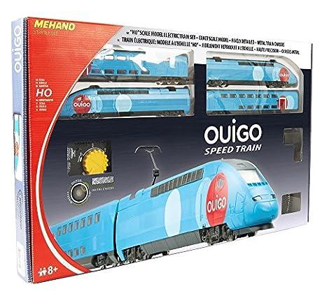 MEHANO - Coffret de train TGV OUIGO avec transformateur et régulateur de vitesse - Echelle HO