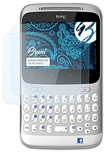 Bruni HTC ChaCha Folie - 2 x glasklare Displayschutzfolie Schutzfolie für HTC ChaCha