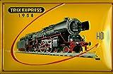 Blechschild Trix Express Modelleisenbahn Dampflok Eisenbahn Schild Werbeschild