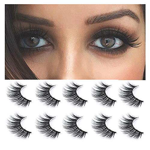 2dab3a13630 Neflyon 3D Mink Eyelashes Individual Reusable Long Eyelashes Makeup Natural  Dramatic False Lash 100% Handmade