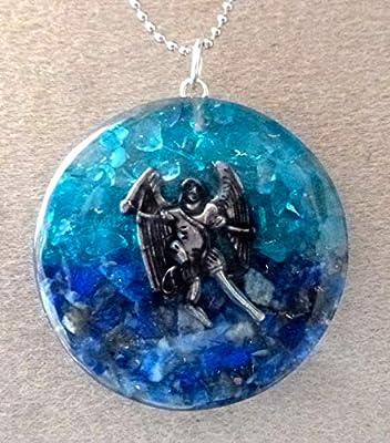 pendentif orgone pierre semi précieuses archange Mickael