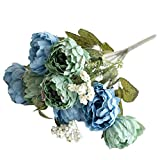 HVdsyf 1 Ramo De Flores Artificiales, 8 Cabezas De Textura