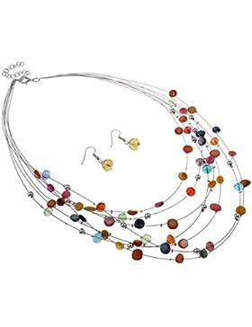 Muschel Schmucksets, Halskette mit Ohrringe