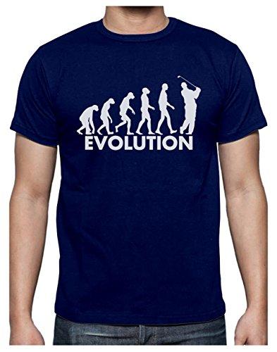 Golf Evolution - Humour pour Golfeur Fêtes des Pères T-Shirt Homme X-Large Marine
