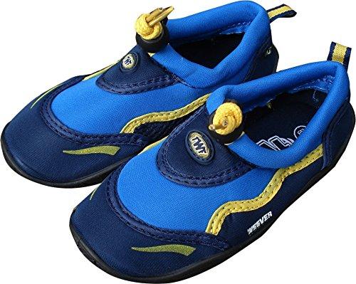 TWF Kids Weever Wet Shoes, Blue/Yellow, Size EU 22/UK 4