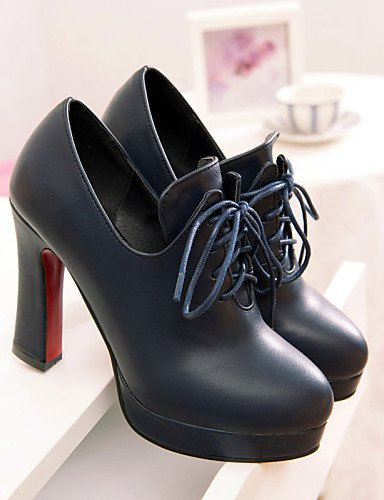 WSS 2016 Chaussures Femme-Extérieure / Bureau & Travail / Décontracté-Noir / Bleu / Rouge-Gros Talon-Talons / A Plateau-Talons-Similicuir red-us10.5 / eu42 / uk8.5 / cn43