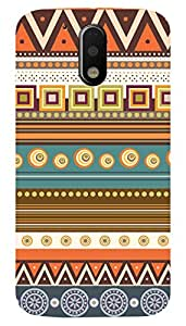 Latest Designer New Back Case for MotoG4PLUS (Green and White) By PLESPEY
