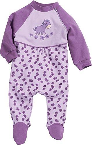 Playshoes Baby - Mädchen Schlafstrampler Schlafanzug Schlafoverall Pferd, Gr. 86, Violett (original 900)
