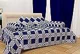 #4: Hargunz Attractive look 144TC Cotton Diwan set-set of 8-Blue