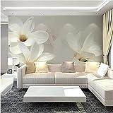 Guyuell Fondo De Pantalla 3D Personalizado Paisaje Para Paredes 3D Magnolia Mural Pintura Dormitorio Tv Fondo Decoración Para El Hogar Papel De Empapelar Papel De Pared-120Cmx100Cm