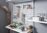 Element System Werkzeuglochwand aus Metall, Heimwerker-Grundset inklusive Schrauben und Dübel, weiß, 11300-00005 - 3