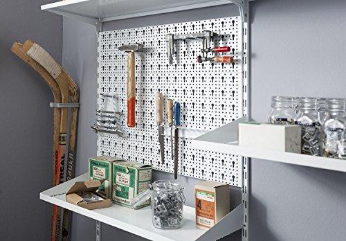 Element System Werkzeugwand aus Metall, Heimwerker-Grundset inklusive Schrauben und Dübel, Lochwand - 3