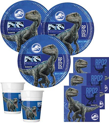 36 Teile Jurassic World Dinosaurier Party Deko Set für 8 Kinder