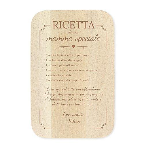 Tagliere in legno d'acero con incisione - ricetta di una mamma speciale - personalizzato con [nome] - accessorio da cucina - regalo per la mamma - festa della mamma - regalo di compleanno