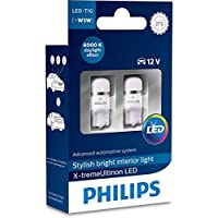 Philips 12799I60X2 X-tremeUltinon LED Interior car Light W5W T10 6000K 12V, Set of 2, Set of 2
