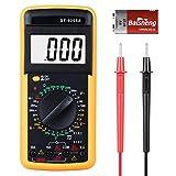 Digital Multimeter, Multimeter Strommessgerät Ohmmeter Amperemeter Digitales Voltmeter, Akustischer Durchgangsprüfer mit LCD-Anzeige und AC/DC Multi Tester Spannung, Strom, Widerstand
