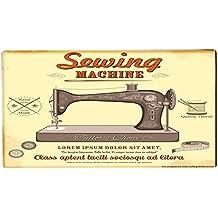 Alfombra Pasillera Motif Pared Garaje Máquina de coser impreso 99x55 cm