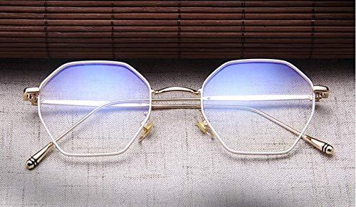 YKDDGG Mode-Accessoires Sonnenbrillen Platz Brillen Schwarz Silber Gold Brillengestell Frauen Männer Klare Linse Metall Eyeware Optische Kurzsichtige BrillenC5