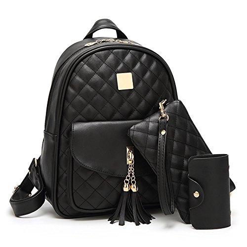 DaDongLL Frauen-beiläufiger Rucksack koreanische Art- und Weisediamant-Plaid-Muttertasche College-Wind-Kursteilnehmer-Tasche -