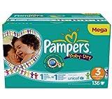 PAMPERS Baby-Dry Windeln, Größe 3 (4-9 kg), mit 1 Mega-Box 136 Windeln