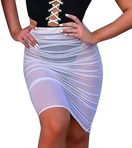 Perspektive Sexy Sommerröcke, Goosun Mode Frau Sonnencreme Mesh Transparenter Rock Damen Kleider Kleid Bleistiftrock...