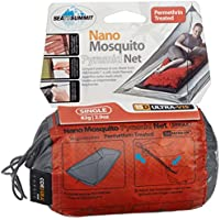 Sea to Summit Nano Permethrin Treated Single - Set de mantenimiento para acampada, color gris, talla 1.2 x 2.2 x 1 m m